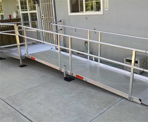 our Concord ADA ramp installation team has recently finished this job